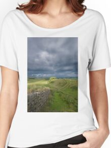 Hadrian's Wall - Cuddey's Crag Women's Relaxed Fit T-Shirt