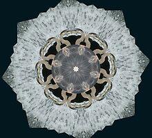 Great Blue Heron Mandala by e. m. ahtúnan