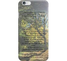 Rules of Vos iPhone Case/Skin