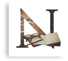 N for Notebook Canvas Print