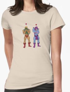 He-Man and Skeletor Snuggle Break Womens Fitted T-Shirt