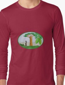 Baobab Tree and Fruit Watercolor Long Sleeve T-Shirt