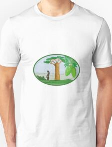 Baobab Tree and Fruit Watercolor Unisex T-Shirt
