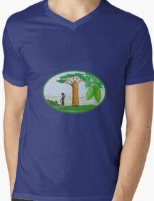 Baobab Tree and Fruit Watercolor Mens V-Neck T-Shirt