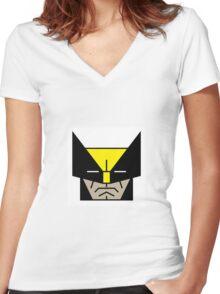 snikt Women's Fitted V-Neck T-Shirt