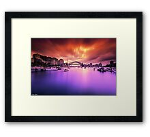 Lavender Bay Colours  Framed Print
