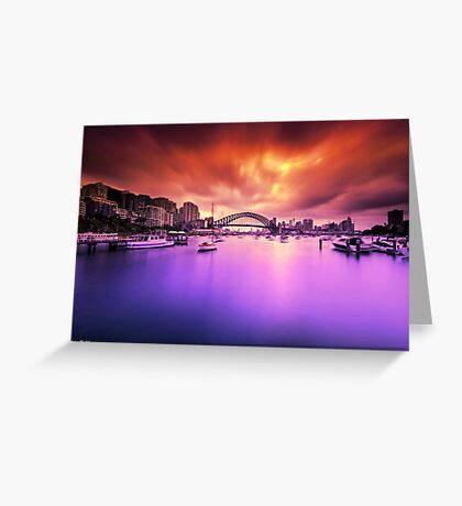Lavender Bay Colours  Greeting Card