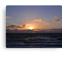 Sunset at Campground Beach 3 Canvas Print