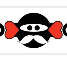 Mustache Ninja Monkeys of Love Sticker