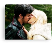 A Kiss in Camelot Canvas Print