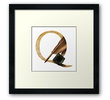 Q for Quill Framed Print