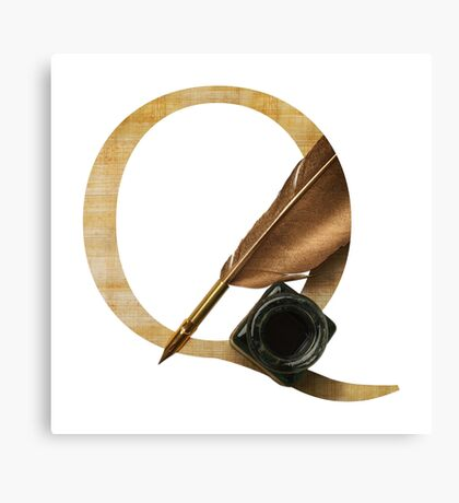 Q for Quill Canvas Print