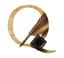 Q for Quill Photographic Print