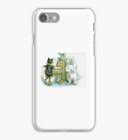 Cats Playing - Animal Art - Whimsical iPhone Case/Skin