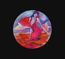 Swirling flamenco 2. Women's Fitted V-Neck T-Shirt