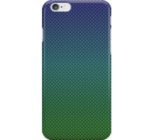 Rainbow Blues and Greens Kevlar Carbon Fiber Pattern iPhone Case/Skin