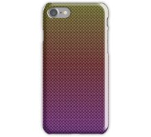 Rainbow Pinks and Reds and Yellows Carbon Fiber Pattern iPhone Case/Skin