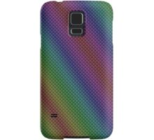 Rainbow Striped Kevlar Carbon Fiber Pattern Samsung Galaxy Case/Skin