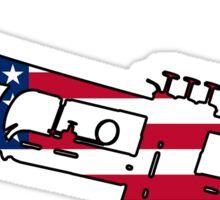 American flag trumpet Sticker