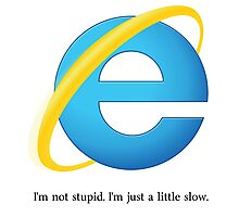 Internet Explorer -- Slow Photographic Print