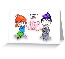 Sound of love Greeting Card