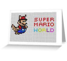 Super Mario World 8 bit abstract Greeting Card