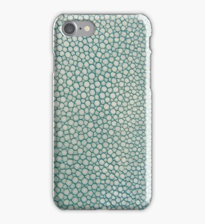 Green Shagreen Stingray Simulated Skin iPhone Case/Skin