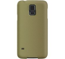 Gold Burnished Metallic Kevlar Carbon Fiber Pattern Samsung Galaxy Case/Skin