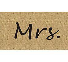 Mrs.  Photographic Print