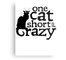 One cat short of crazy Metal Print