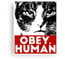 OBEY, HUMAN Canvas Print