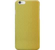 Gold Bright Metallic Kevlar Carbon Fiber Pattern iPhone Case/Skin