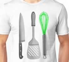Kitchen Utensils Knife Spatula Whisk Unisex T-Shirt