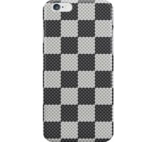 Black and White Checkerboard Kevlar Carbon Fiber Pattern iPhone Case/Skin