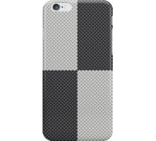 Black and White Quadrant Kevlar Carbon Fiber Pattern iPhone Case/Skin