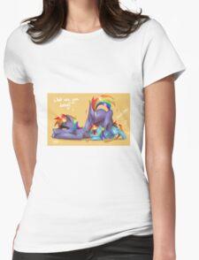 Rainbow Dash and Rainbow Blaze Womens Fitted T-Shirt