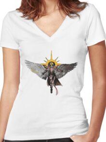 Warhammer 40k Living Saint Vector Women's Fitted V-Neck T-Shirt