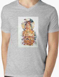 Golden Madonna Mens V-Neck T-Shirt