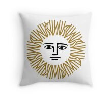 Vintage Sun Throw Pillow