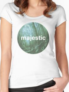 Unofficial Majestic Casual design bamboo Women's Fitted Scoop T-Shirt