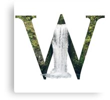 W for Waterfall Canvas Print