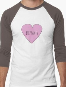 Elephant Love Men's Baseball ¾ T-Shirt
