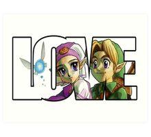 Zelda In Love  Art Print