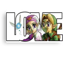 Zelda In Love  Canvas Print