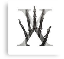 X for X-Ray Canvas Print