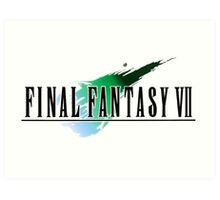 FF7 Logo Highest Quality Art Print