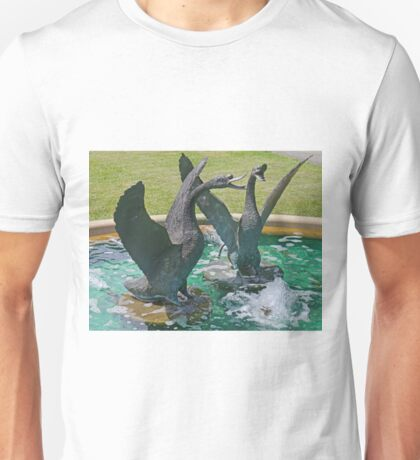 Two Swans in a Fountain Unisex T-Shirt