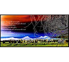 Bible Verse Matthew 7:13-14 Photographic Print