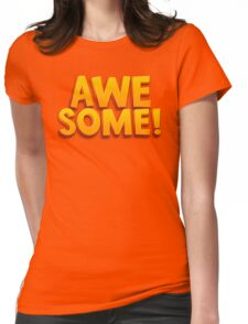 Awesome 3D Comic Text T Shirt Womens Fitted T-Shirt