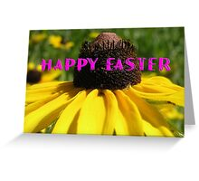 Yellow daisy Happy Easter Greeting Card Greeting Card